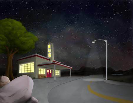 Night Highway Scene