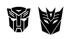 Autobot and Decepticon Shapes by batchix