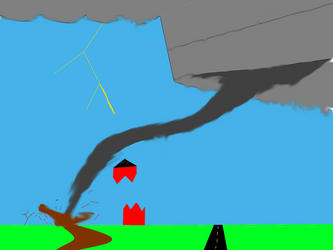 tornado destroying the barn V2 by trentsll1234567