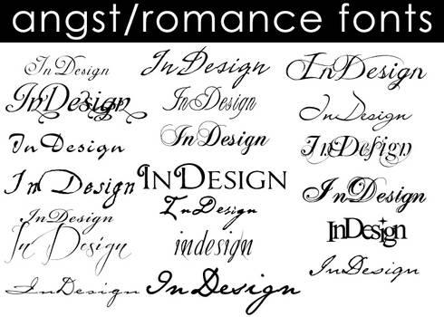 Angst-Romance Fonts