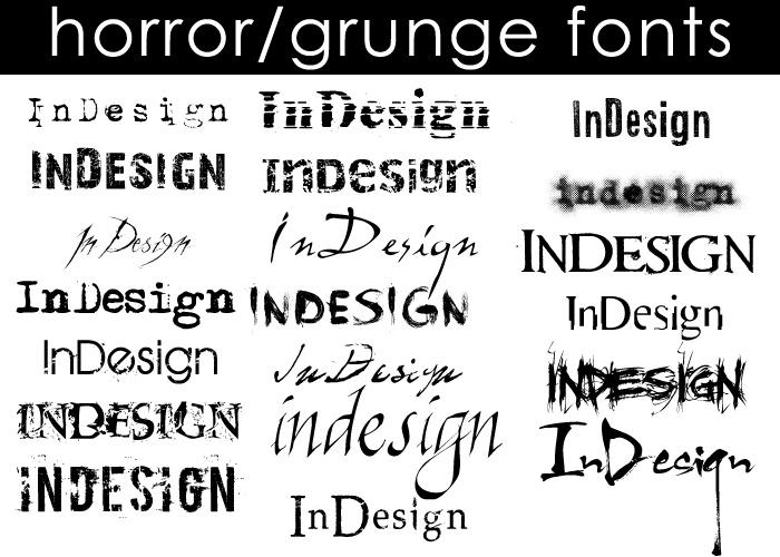 Horror Grunge Fonts By Moonangel517