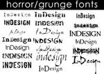 Horror-Grunge Fonts