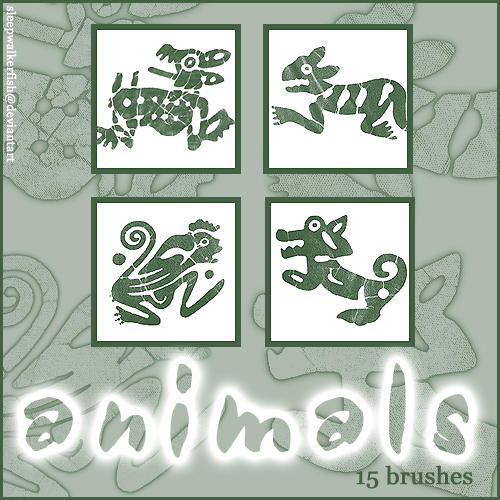 Animal shape brushes by sleepwalkerfish