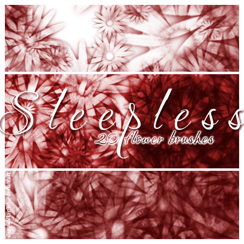 Sleepless - 20 floral brushes