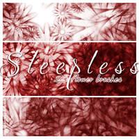 Sleepless - 20 floral brushes by sleepwalkerfish