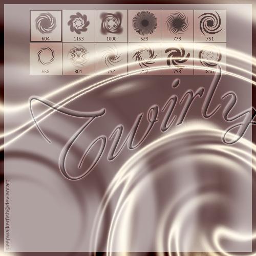 Twirly photoshop brushes
