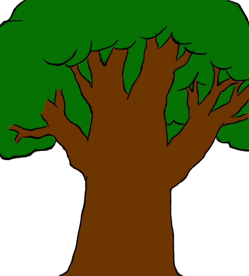 how to draw a tree cartoon