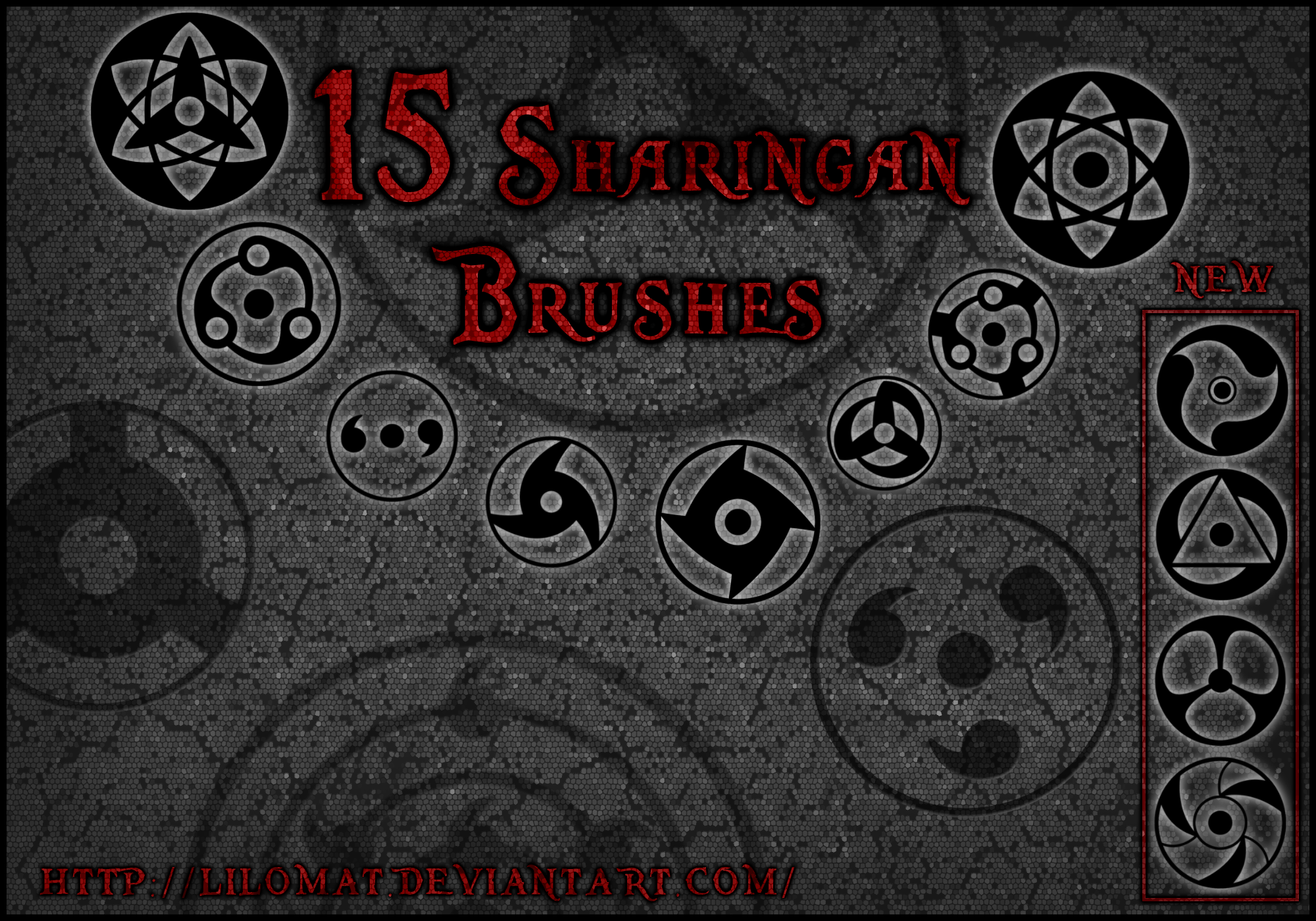 Brush: Sharingan Set1 by lilomat