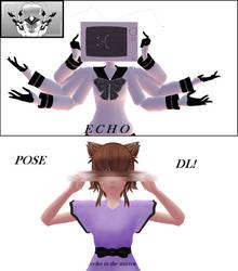   MMD  ECHO pose DL   by NikKa-MikuMikuLen