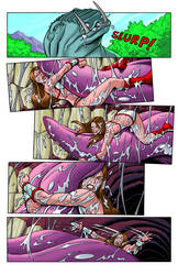 Tyris Flare's Dino Tongue Wrangling Pg 2 by zetaxinn