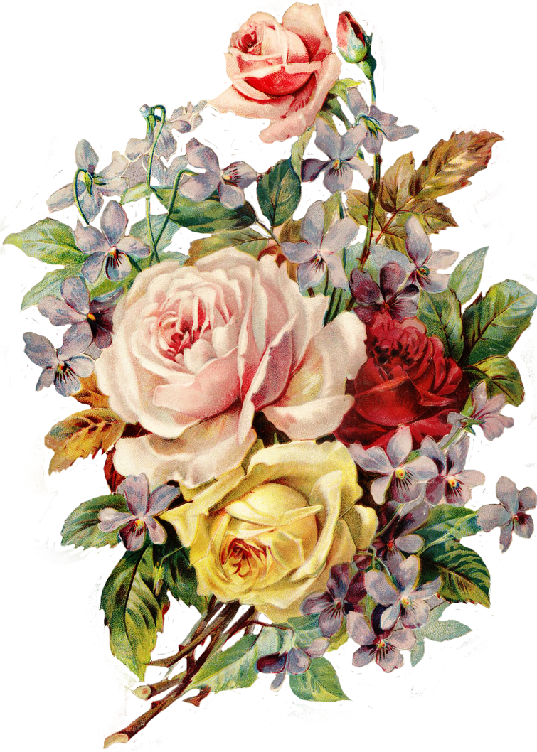Vintage Flowers Png by deadassdahmer on DeviantArt