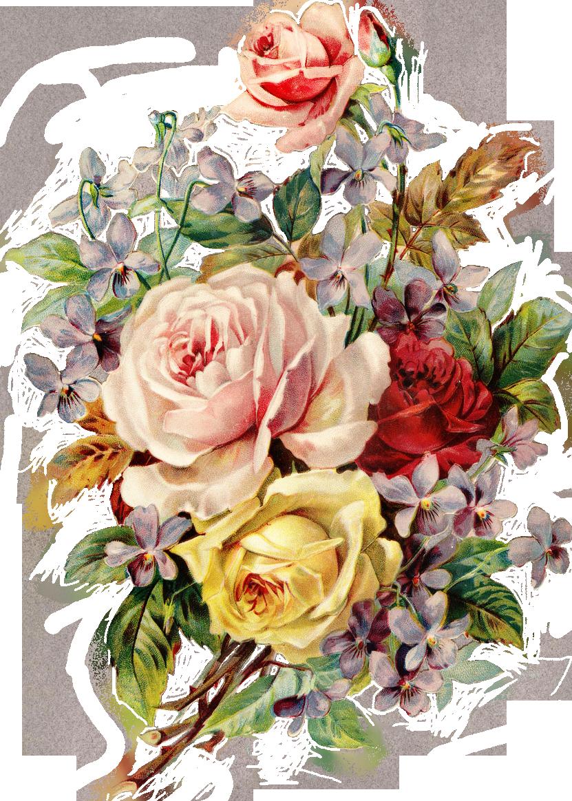 Vintage Flowers Png by deadassdahmer on DeviantArt