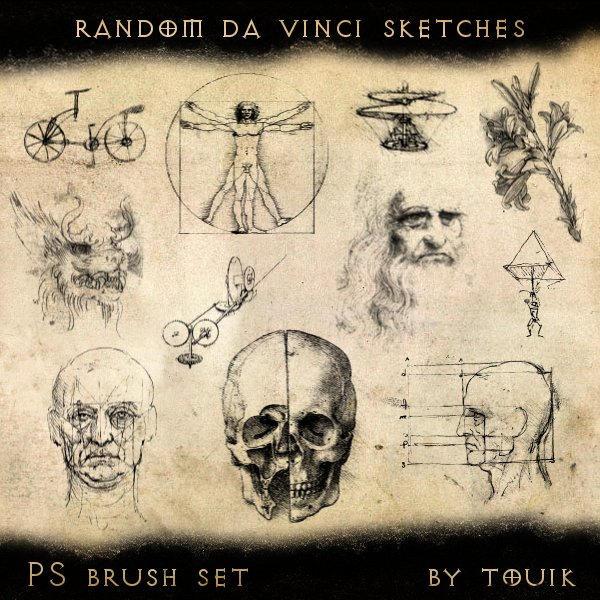 Random Da Vinci Sketches by autormali