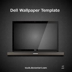 Dell Wallpaper Template by autormali