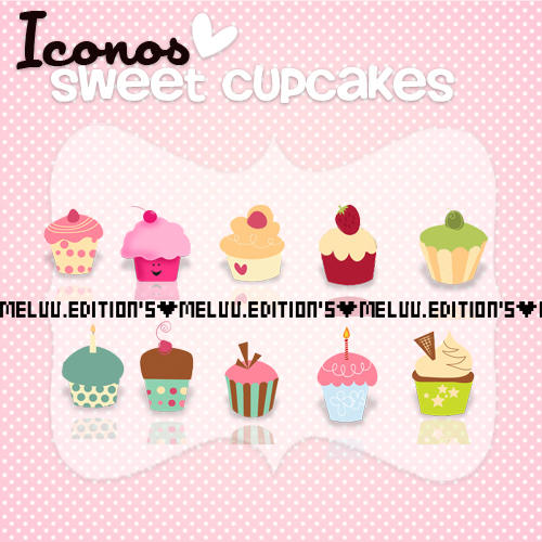 Iconos Sweet Cupcake. By: Me by MeluuEditions