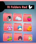 10 Red Folders :3