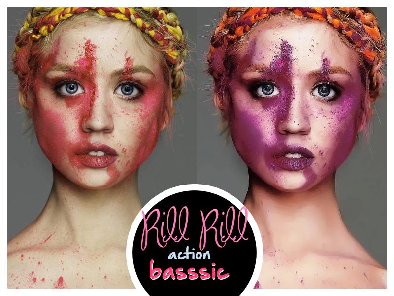 Rill Rill action para Photoshop|basssic. by basssic