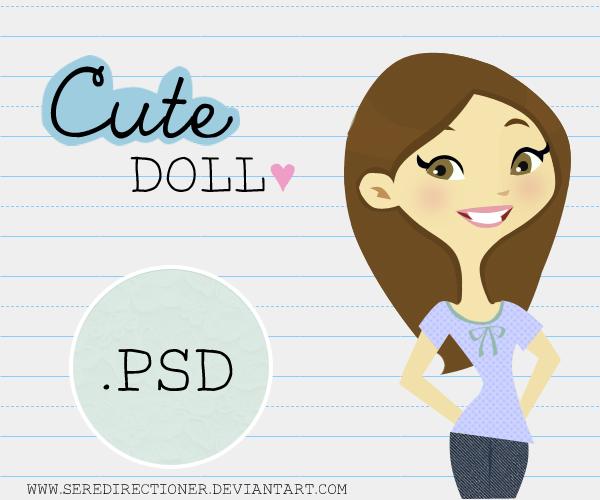 Cute doll .PSD