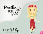 Pacific doll (PSD y PNG)