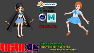 Kill La Kill IF - Mako Mankanshoku (DAE,FBX,OBJ)