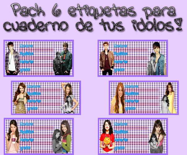 Pack 6 etiquetas para cuaderno de tus idolos by MaaryEditions