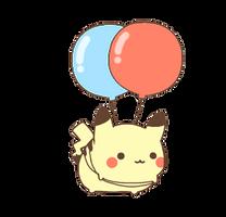floating pikachu