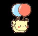 floating pikachu by MinjiXMuu-chan