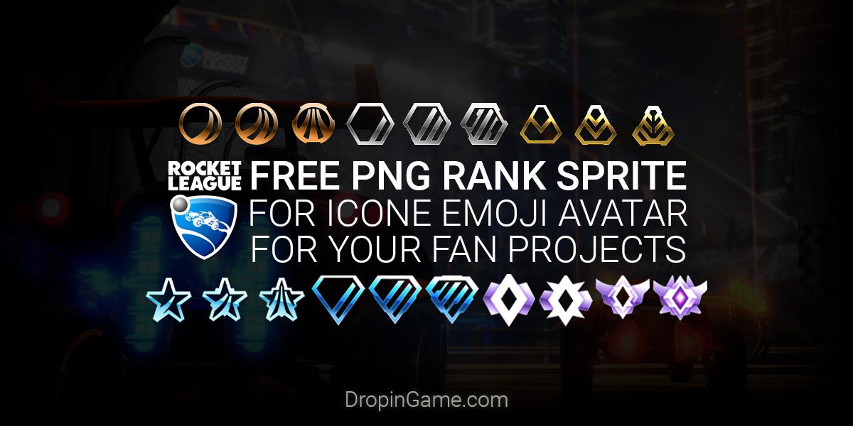 RocketLeague png sprite rank / league icons by Miragide-FC