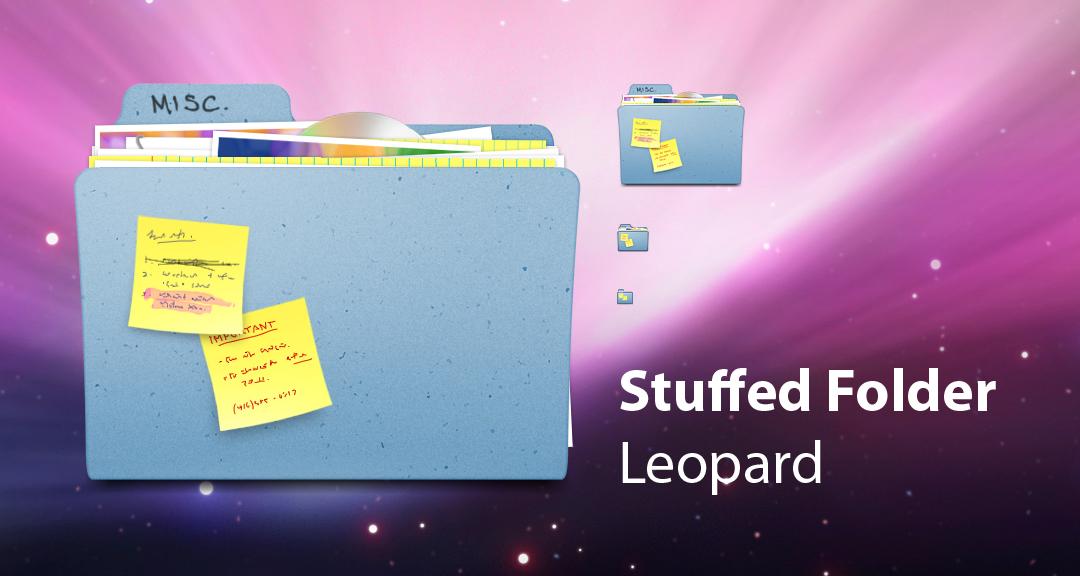 Stuffed Folder - Leopard
