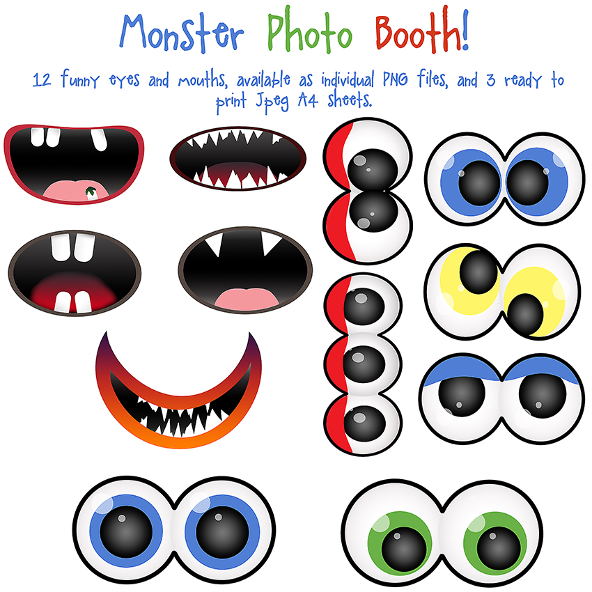 Monster Photo Booth Clip Art by AllThingsPreciousPhoto Booth Clip Art
