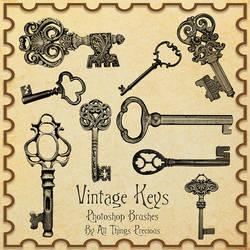 Vintage Keys Brushes