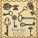 Vintage Keys Brushes