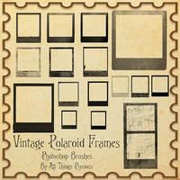 Vintage Polaroid Frames Brushes by AllThingsPrecious