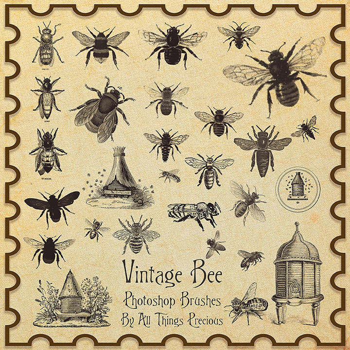 Vintage Bee Decor