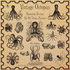 Vintage Octopus Brushes