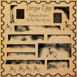 Tintype Edges Photoshop Brushes