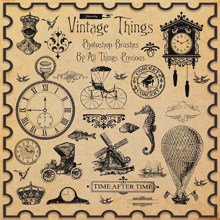 Vintage Things Brushes By AllThingsPrecious ...