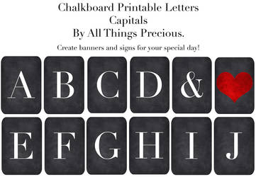 Chalkboard Banner Letters ( Capitals ) by AllThingsPrecious