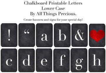 Chalkboard Lower Case Letters by AllThingsPrecious