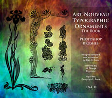 Page 10 Art Nouveau Typographic Ornaments by AllThingsPrecious