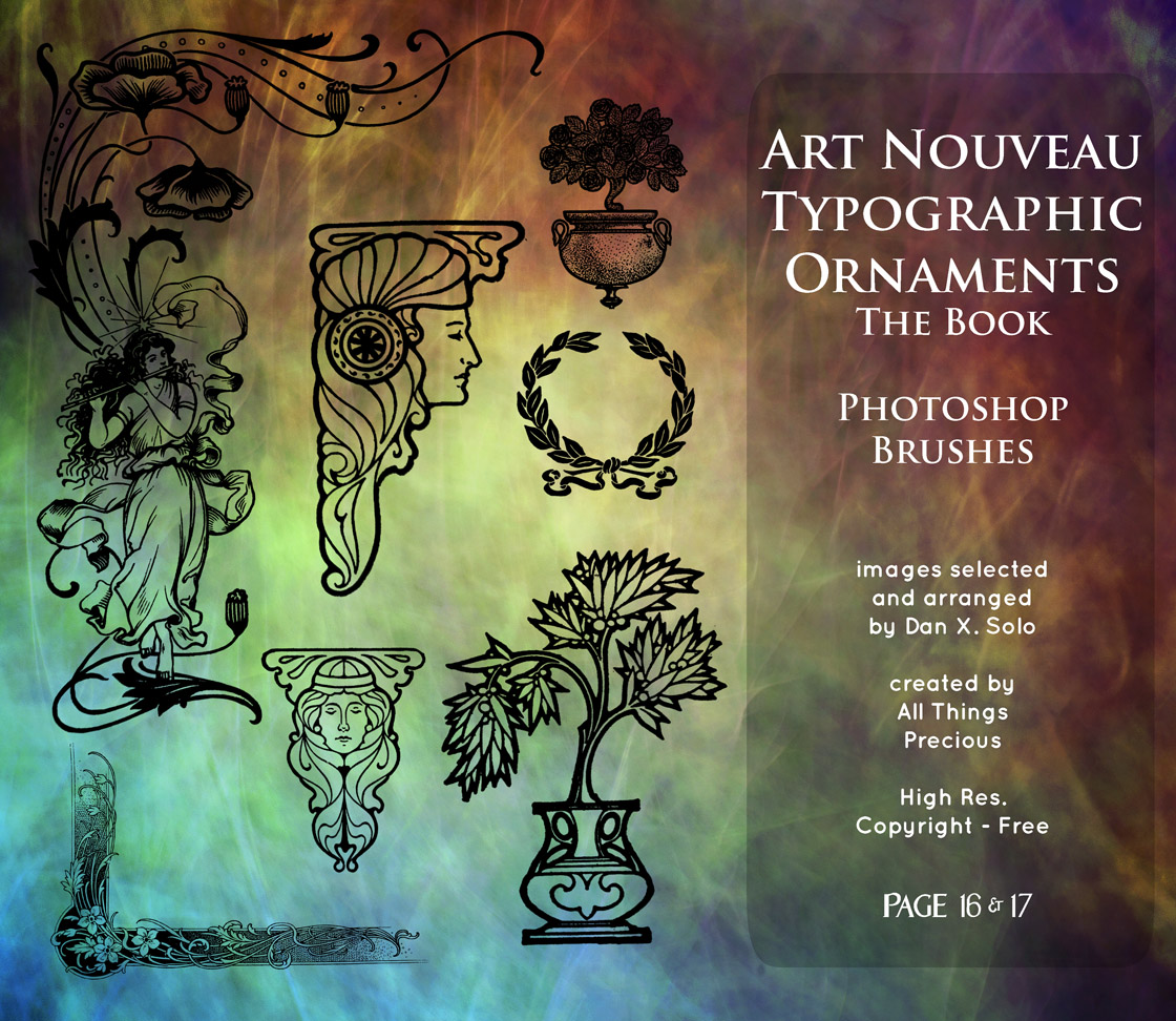 Page 16 and 17 Art Nouveau Typographic Ornaments by
