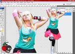 Colorful Girl Scene Stock PSD by cherrybomb-81