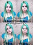 Green Hair Face Expression