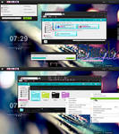 Black Colorfull theme for Windows 7
