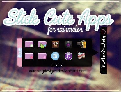 Slide Cute Apps for Rainmeter