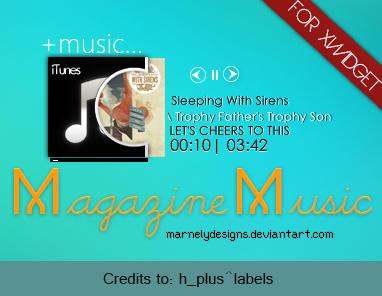 +Skin XWidget l Music Magazine