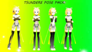MMD Pose Pack 3 - Tsundere by CocoaNutChomChoms