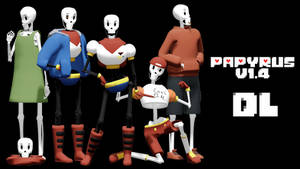 MMD Undertale - Papyrus v1.4 by MagicalPouchOfMagic