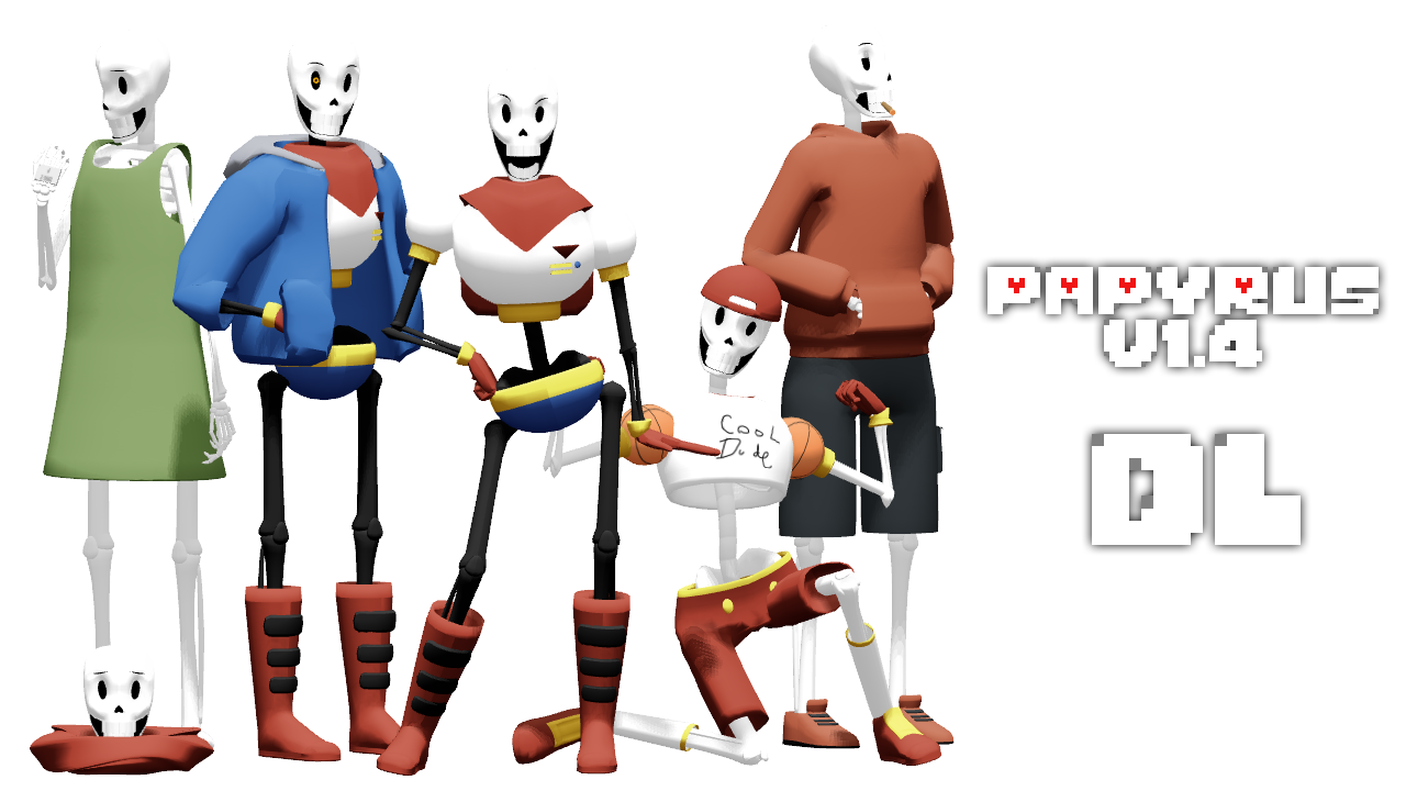 How to install sans undertale skin download sans undertale skin -  Magicalpouchofmagic Mmd Undertale Papyrus V1 4 By Magicalpouchofmagic