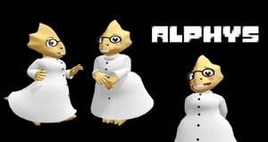 MMD Undertale - Alphys v1.0 by MagicalPouchOfMagic